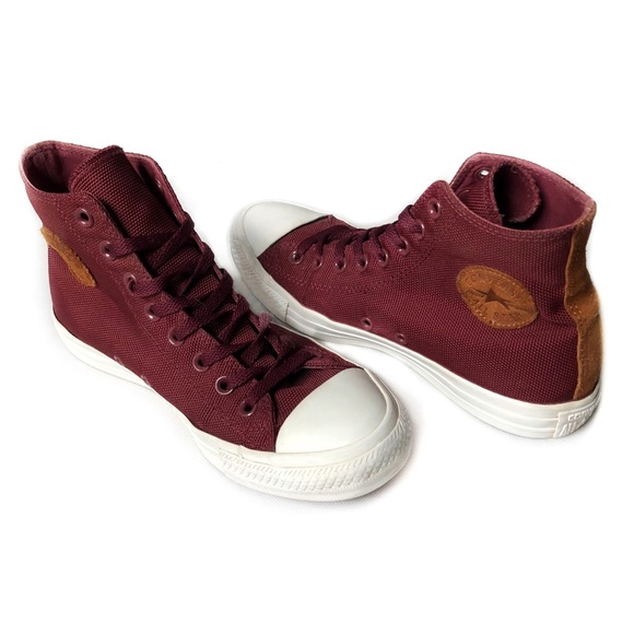 Converse CTA Canvas & Leather Suede Hi Tops ???8